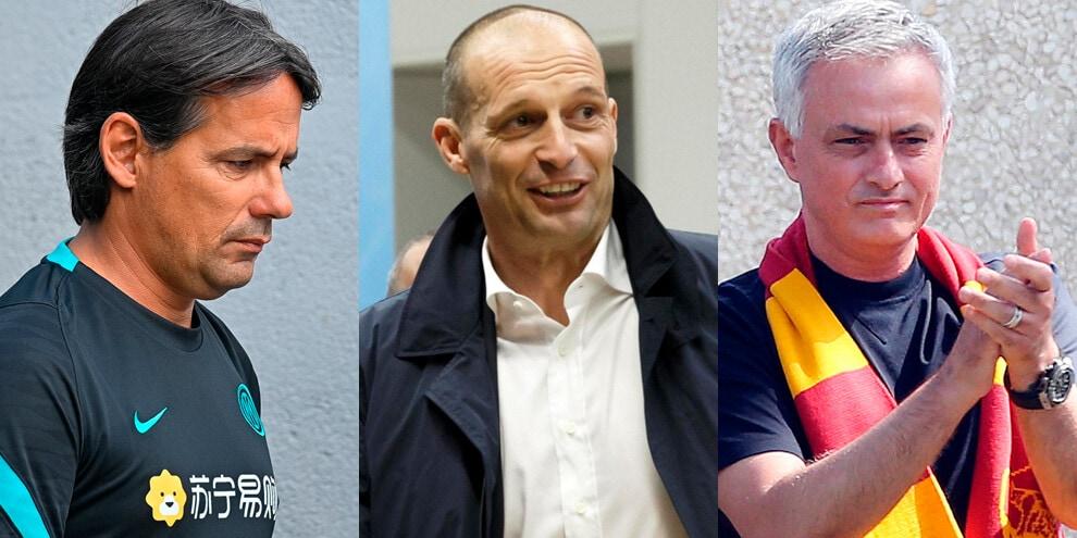 Panchine Serie A, da Allegri a Mourinho: tutti i nomi