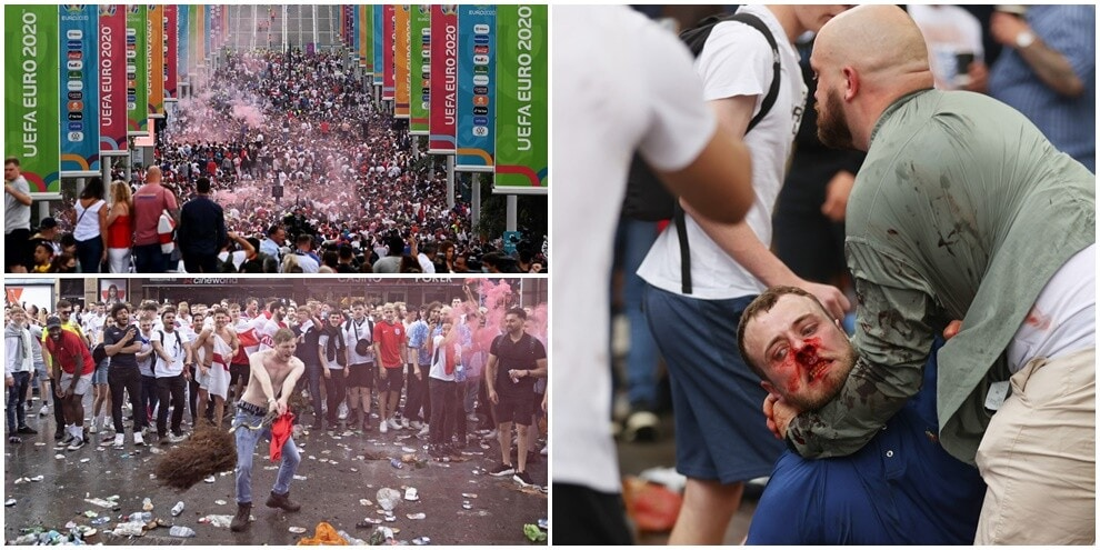 Wembley, incidenti e scontri tra tifosi prima di Italia-Inghilterra