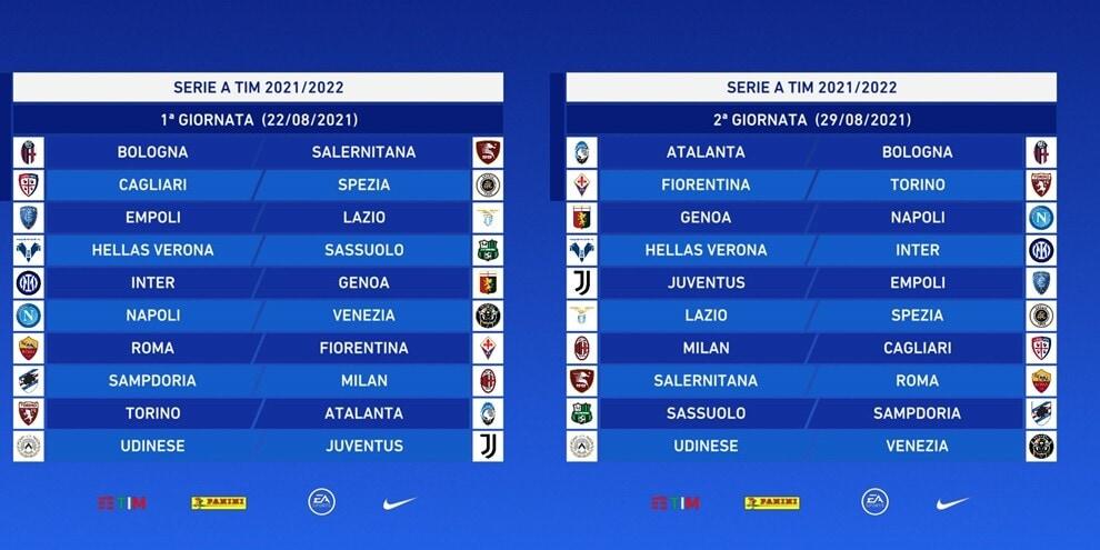 Serie A 2021/2022, il calendario: ecco tutte le giornate