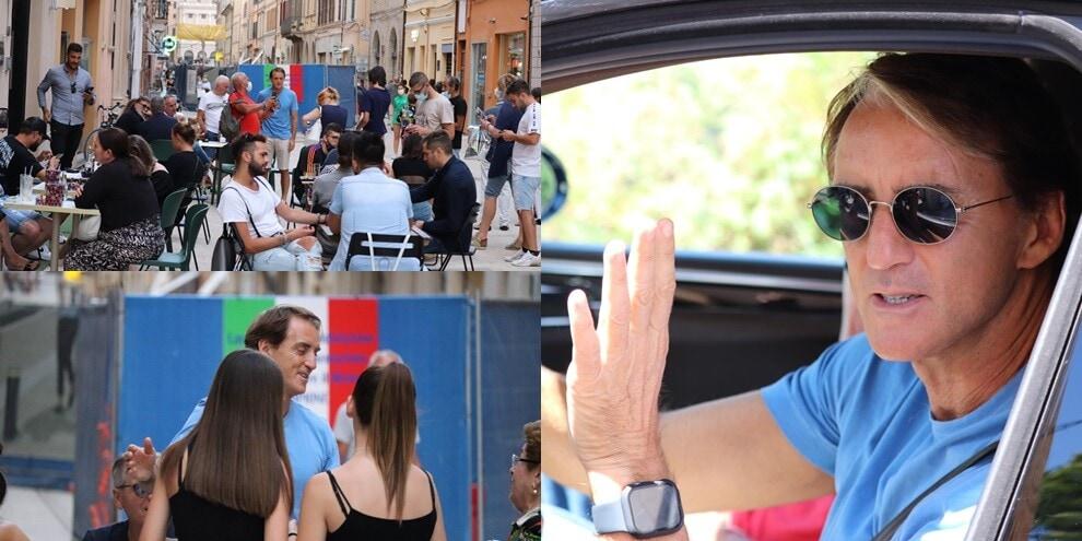 Mancini torna a Jesi da campione d'Europa: che festa con i tifosi