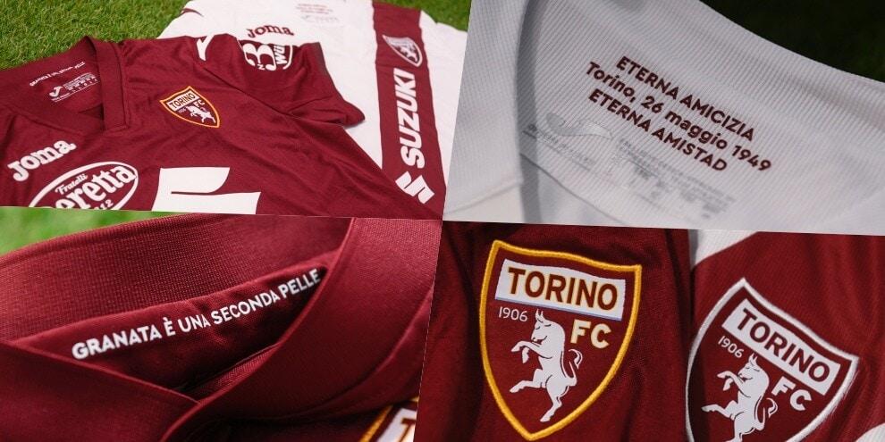 Le nuove maglie del Torino per la stagione 2021-2022