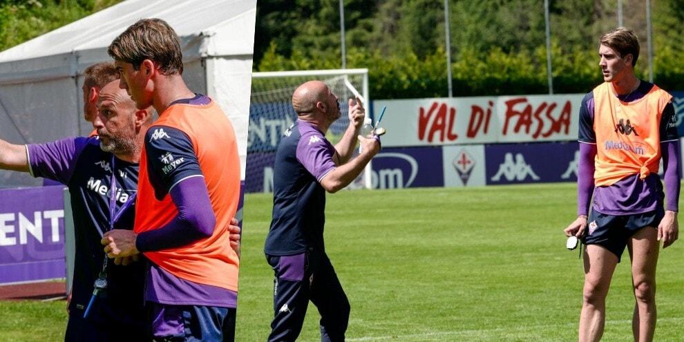 Fiorentina, Italiano istruisce Vlahovic: che feeling!