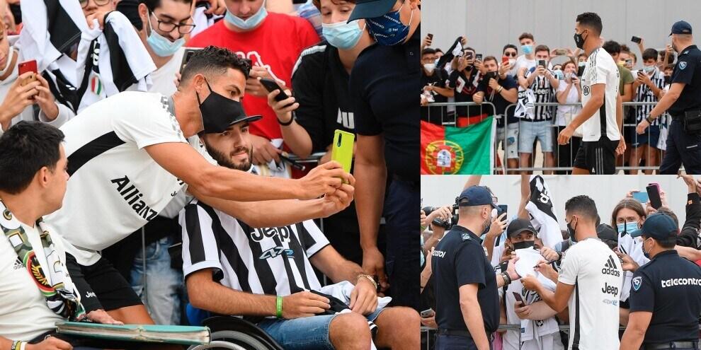 Juve, Ronaldo al J Medical: tifosi impazziti. Autografi e selfie