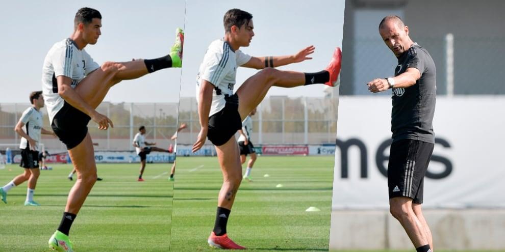 Juve, Allegri e la super coppia Ronaldo-Dybala