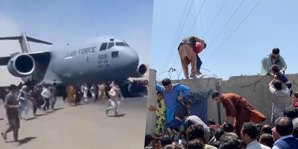 Afghanistan, Kabul nel panico: la gente si aggrappa agli aerei