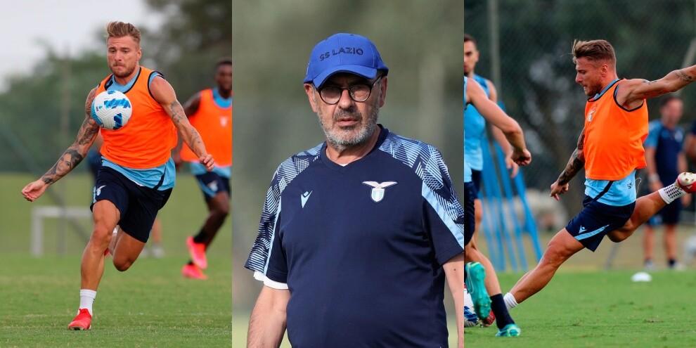 Lazio, allenamento vista Empoli: Immobile scalpita, Sarri osserva