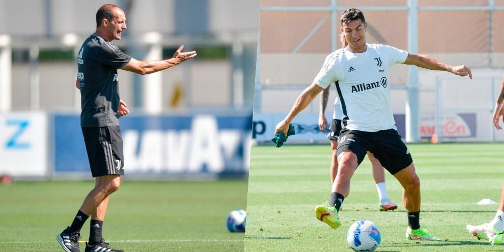 Ronaldo tra Juve e mercato: intanto si allena con Allegri