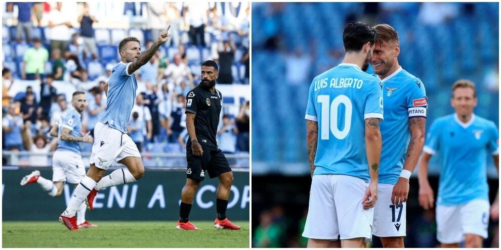 Show Luis Alberto-Immobile: Lazio, sei gol allo Spezia