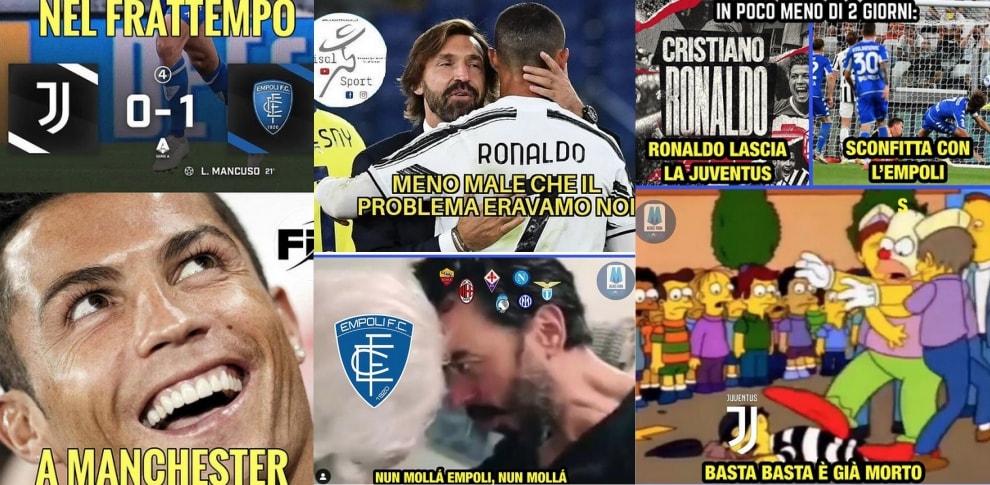 Juve, le ironie del web dopo la sconfitta con l'Empoli