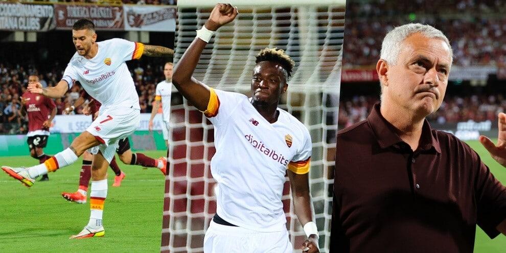 Mourinho, che poker: la Roma domina e Abraham segna