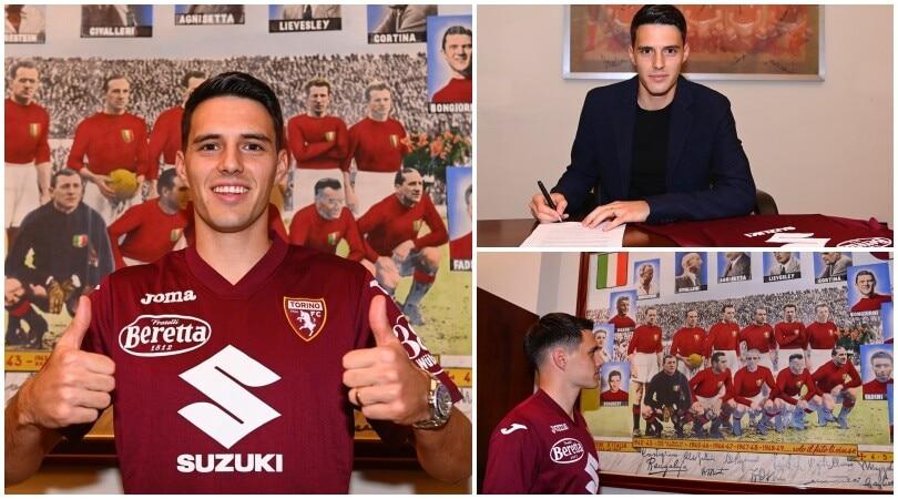 Torino, Brekalo firma e posa con la maglia granata