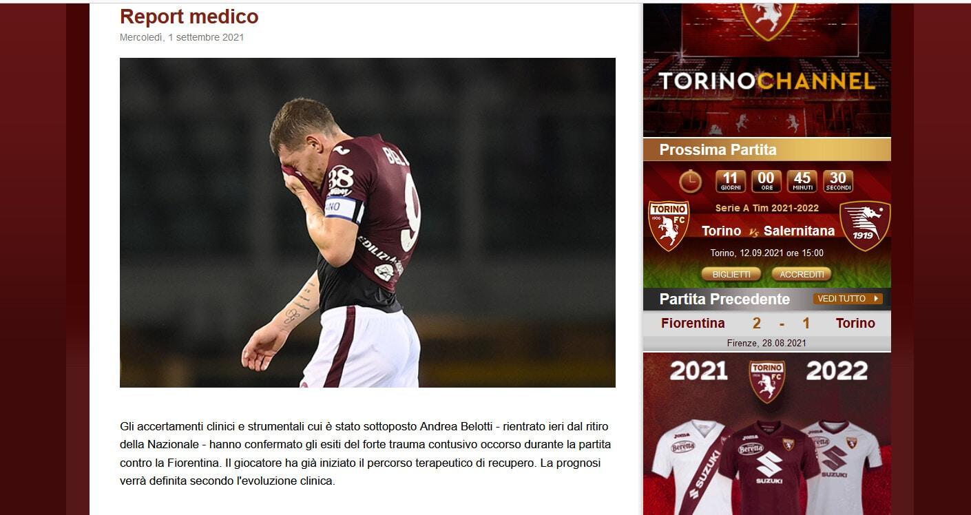 Torino, buone notizie per Belotti: escluse fratture