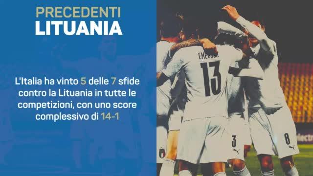 Italia-Lituania, la gara in numeri