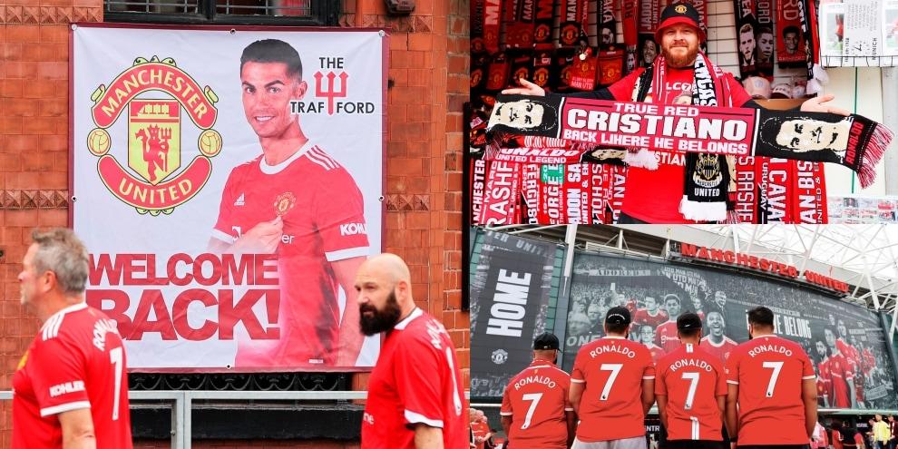 Ronaldo, che accoglienza fuori da Old Trafford!