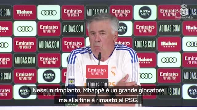 "Ancelotti: ""Mbappé, nessun rimpianto..."""