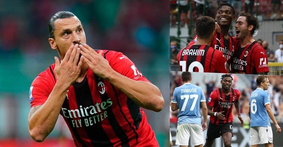 Milan nel segno di Leao-Ibrahimovic: Lazio battuta 2-0