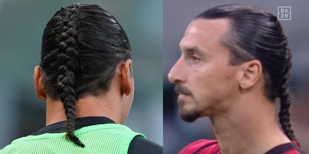 Ibrahimovic, gol e cambio look per Milan-Lazio: ecco la treccia