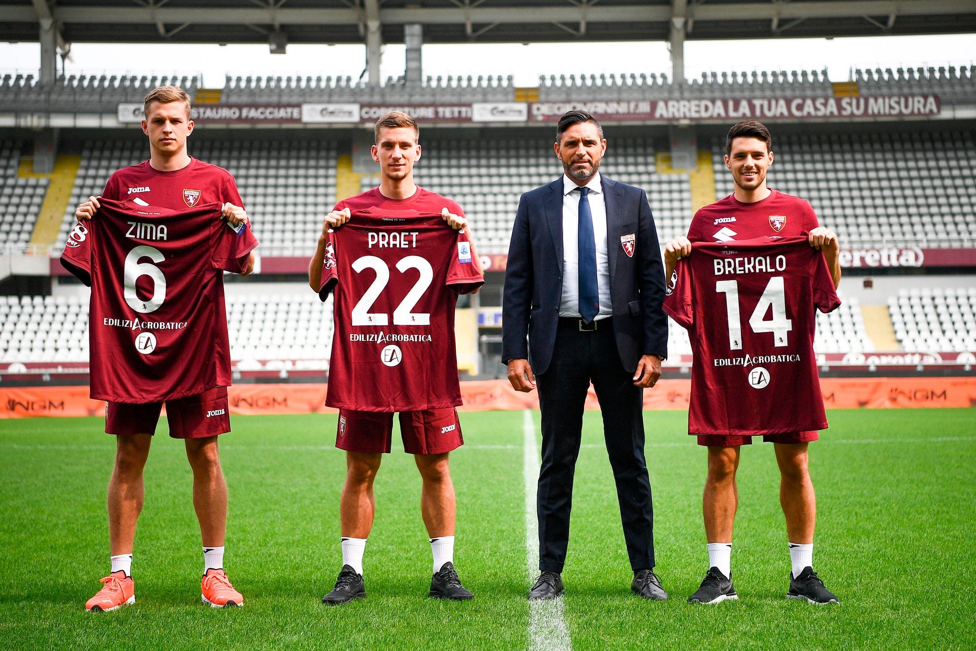 Il Torino presenta Brekalo, Praet e Zima