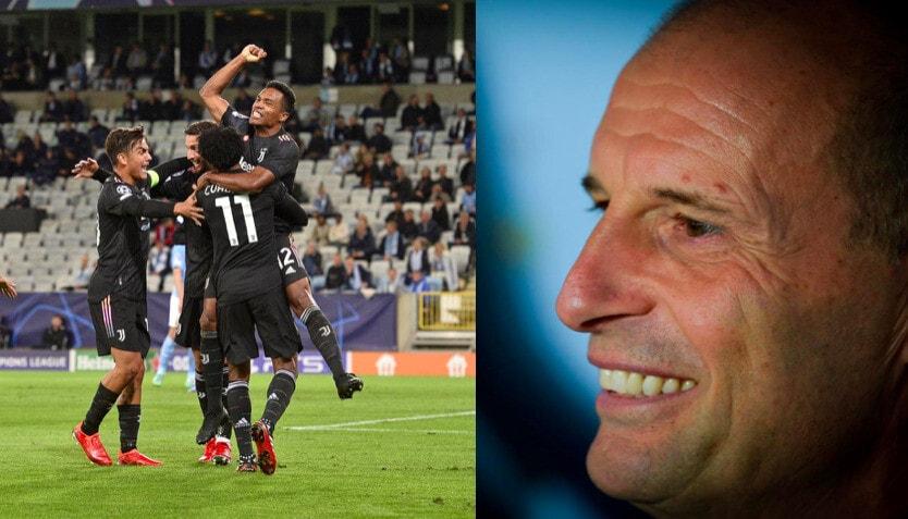 Juve, tris al Malmoe in Champions: Allegri sorride in panchina