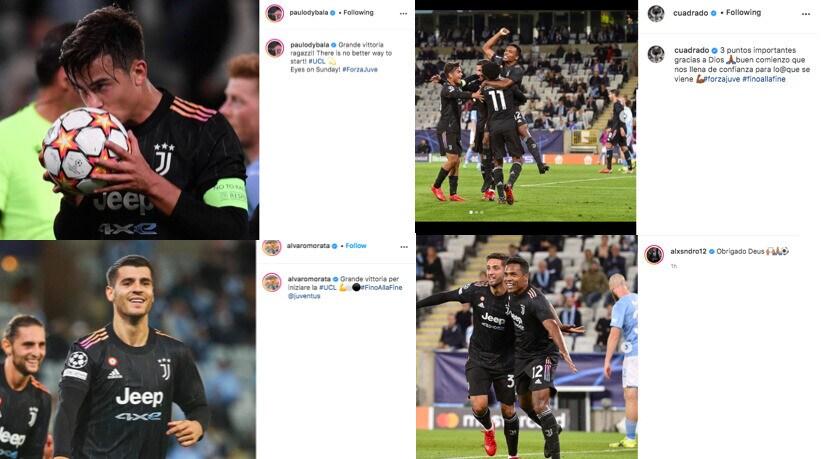 """Juve, i giocatori festeggiano sui social: """"Grande vittoria"""""""