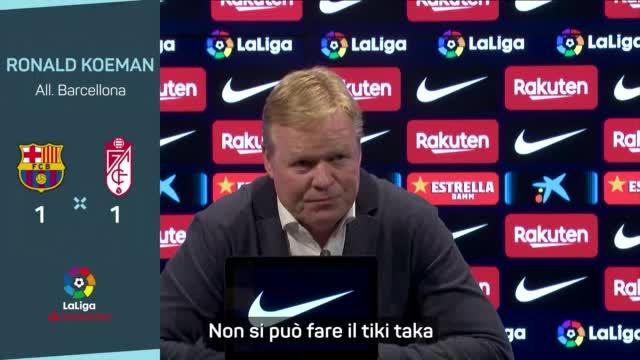 """Koeman: """"Il tiki taka? Non è più il Barça di otto anni fa"""""""