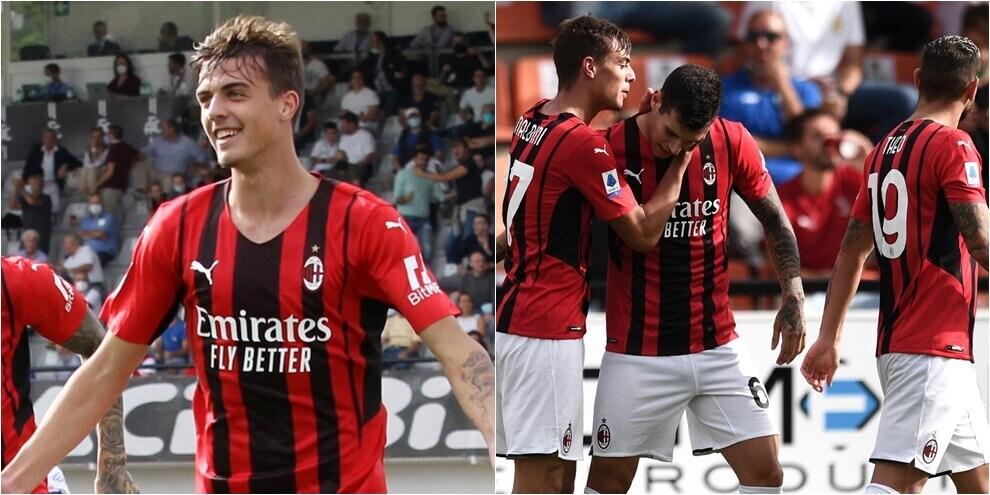 Il Milan vola con Daniel Maldini e Brahim Diaz: 2-1 allo Spezia