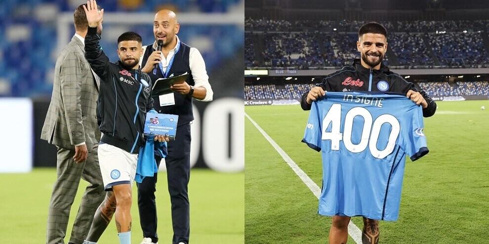 Il Napoli celebra Insigne: maglia speciale e targa per le 400 gare in azzurro