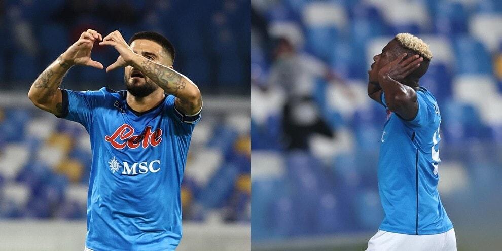 Osimhen e Insigne trascinano il Napoli: il Cagliari crolla 2-0