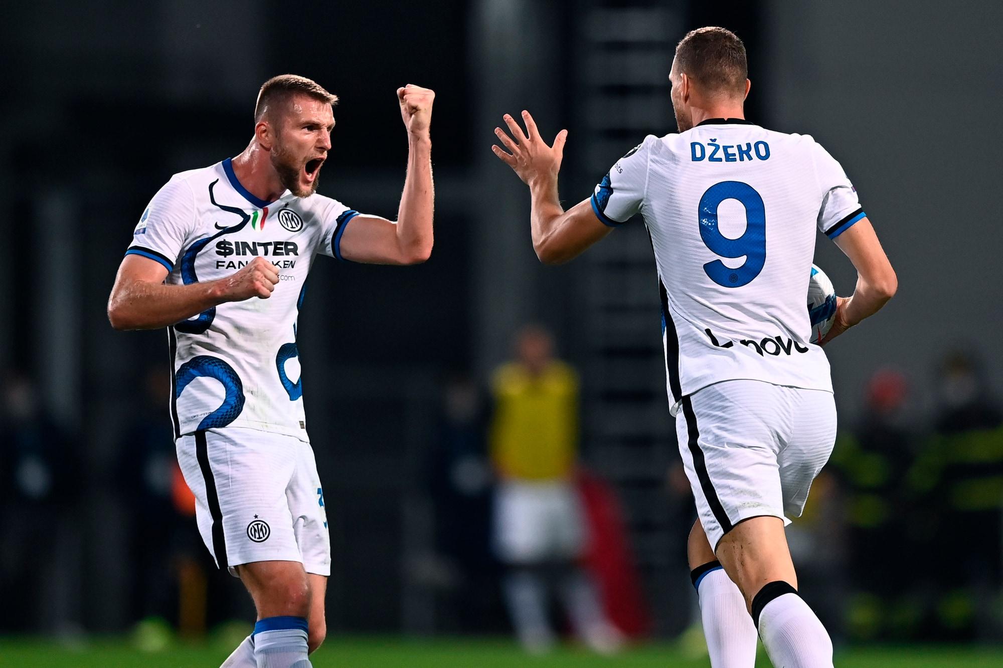 Dzeko trascinatore: l'Inter trema poi rimonta con il Sassuolo