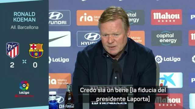 """Barcellona, Koeman sulla fiducia: """"Messaggio di stabilità"""""""