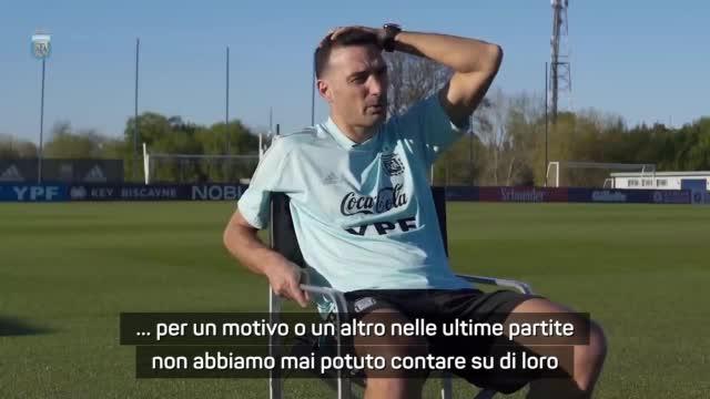"""Preoccupazione Scaloni: """"Vorrei Dybala e Aguero ma..."""""""