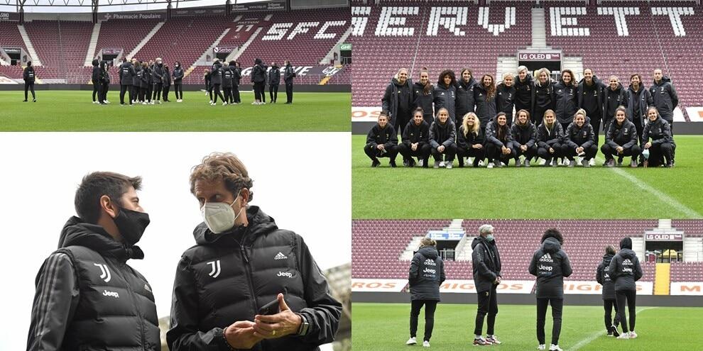 Juve Women al debutto nei gironi di Champions: il sopralluogo