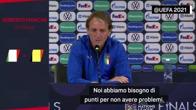 """Belgio senza Lukaku, Mancini: """"Saranno comunque motivati"""""""