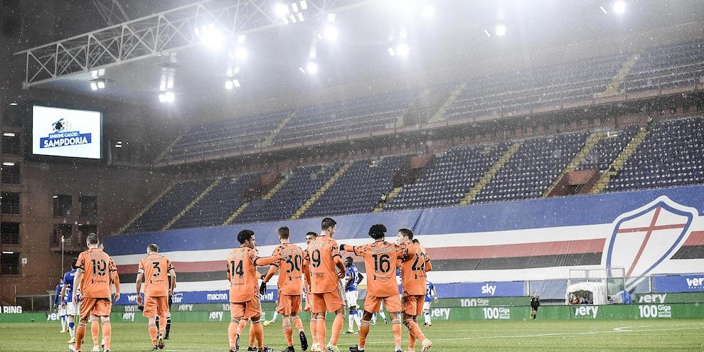 Sampdoria-Juve 0-2, il tabellino
