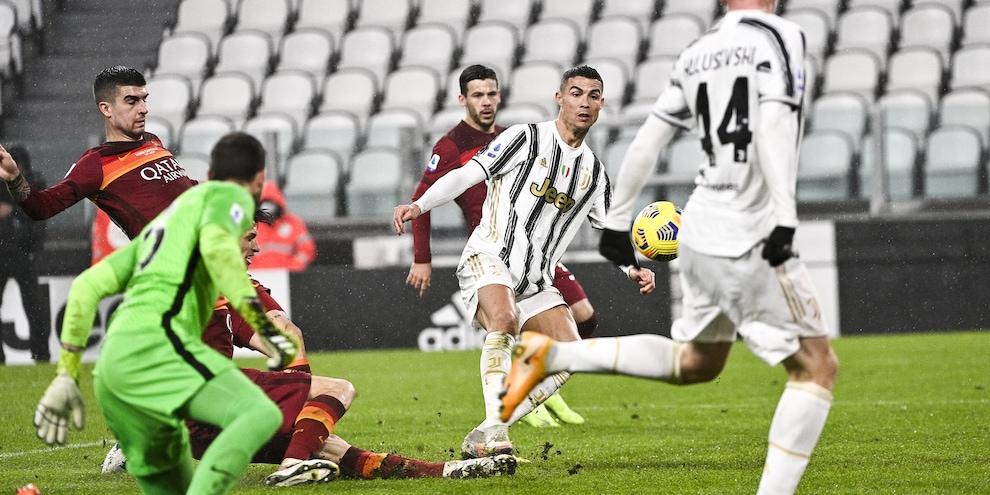 Juve-Roma 2-0, il tabellino