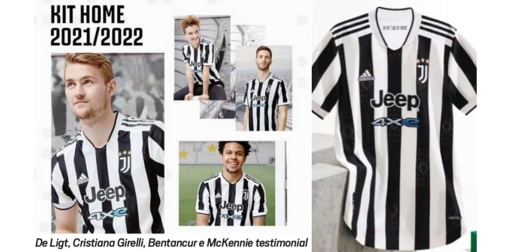Juve, prima maglia 2021-2022: dov'è Cristiano Ronaldo?